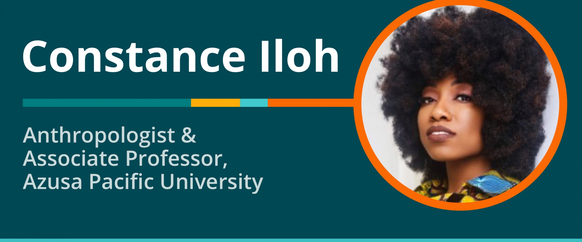 Scholarship to Practice 10/7/20: Transcript of Conversation With Constance Iloh, Educational Anthropologist