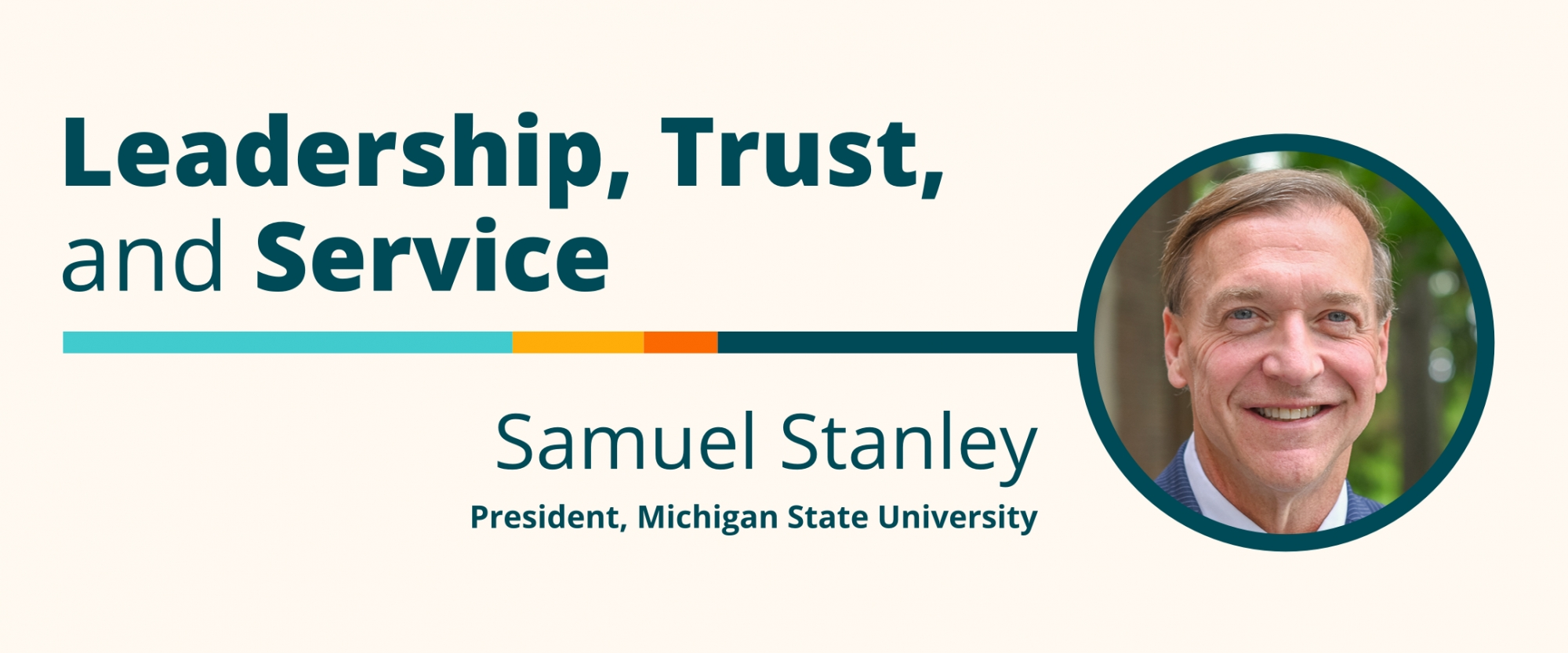 Leadership, Trust, and Service